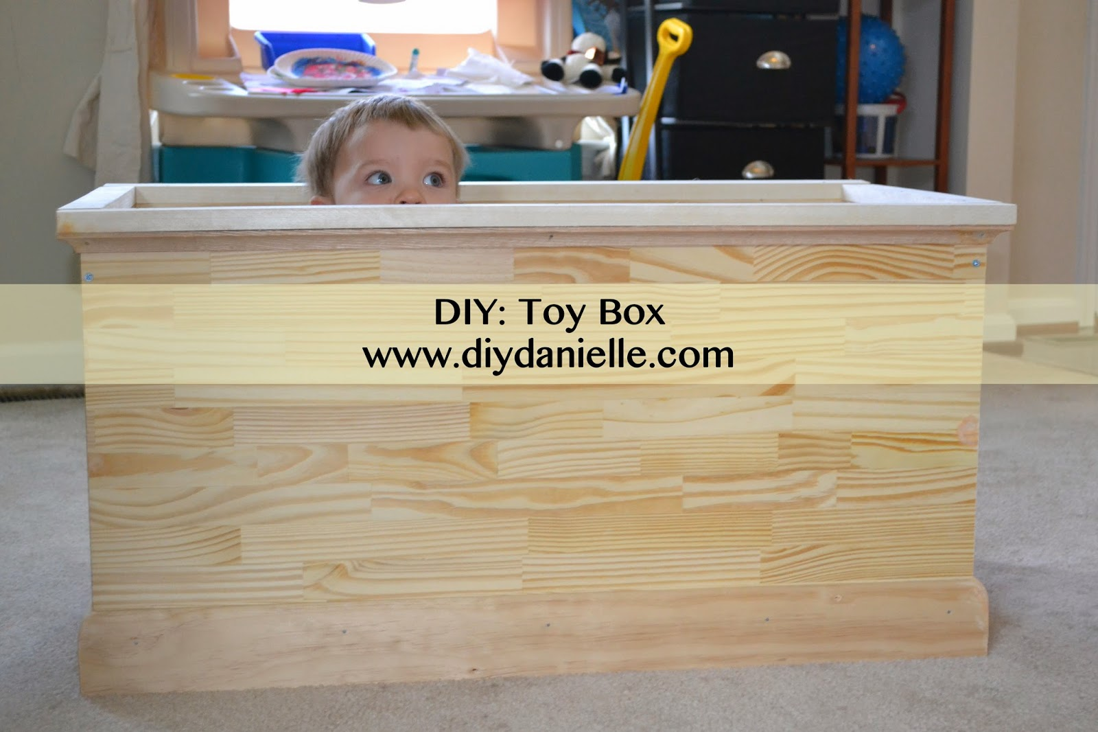 Toy box diy danielle Build your own toy chest
