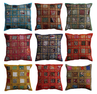 Wholesale Sequin Patchwork Cushion Covers Traditional Patchwork Pillow Covers