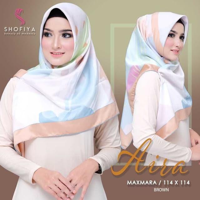 Jilbab Maxmara Aira Modis Terbaru By Shofia Hijab Biru