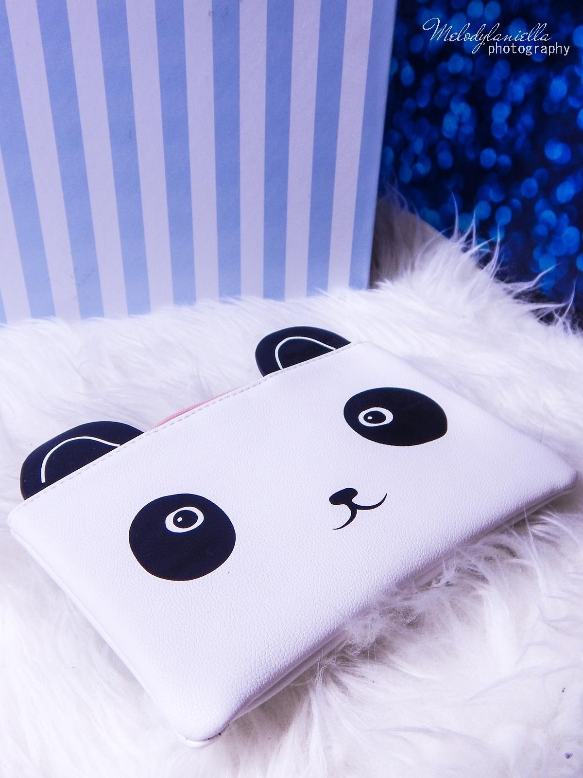 12 Oh! K Life koreańskie kosmetyki i gadżety słodkie dziewczęce dodatki maska do twarzy panda kosmetyczka w kształcie pandy lodowe płatki chłodzące okłady na oczy przeciw sińcom jak pozbyć się sińców pod oczami