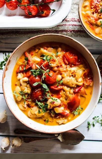 White Bean, Coconut and Roast Pepper Stew (vegan & gluten free)