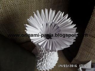 kielich komunijny biały, papier
