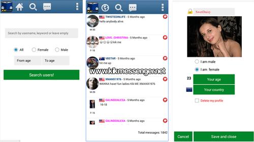 Contacta con gente real usando KKBook Find users for KiK
