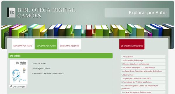 Na Biblioteca Digital Camões há obras de Eça de Queirós, Almeida Garrett e uma série de autores relevantes do período