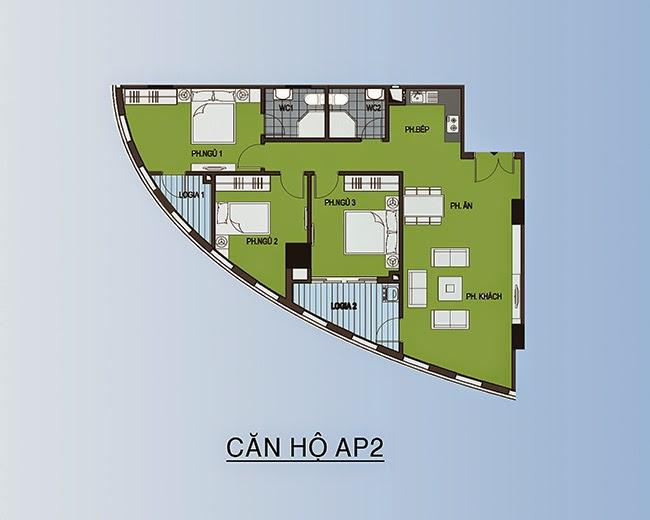 Căn hộ AP2 - 103,1m2