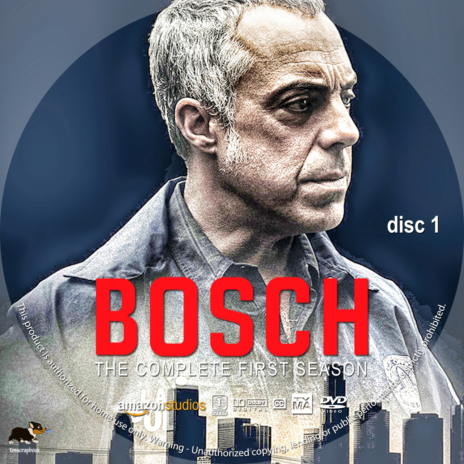 Bosch Season 1 Disc 1-3 DVD Label