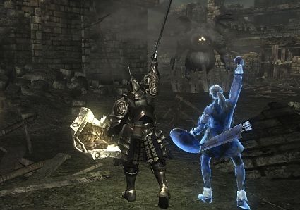 Demon's Souls - multiplayer help with friendly blue phantoms