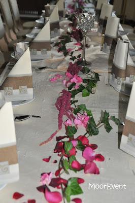 Moorevent Tischdekoration