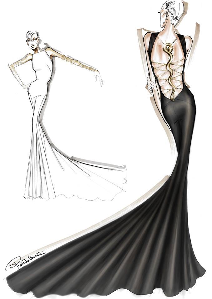 Roberto Cavalli Fashion Illustrations