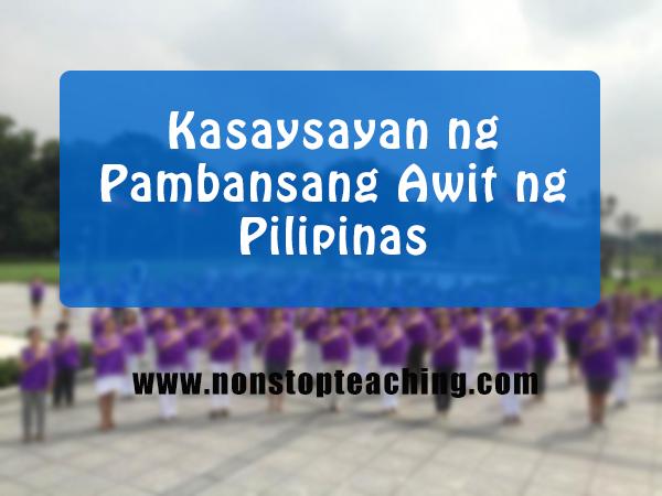 Kasaysayan ng Pambansang Awit ng Pilipinas