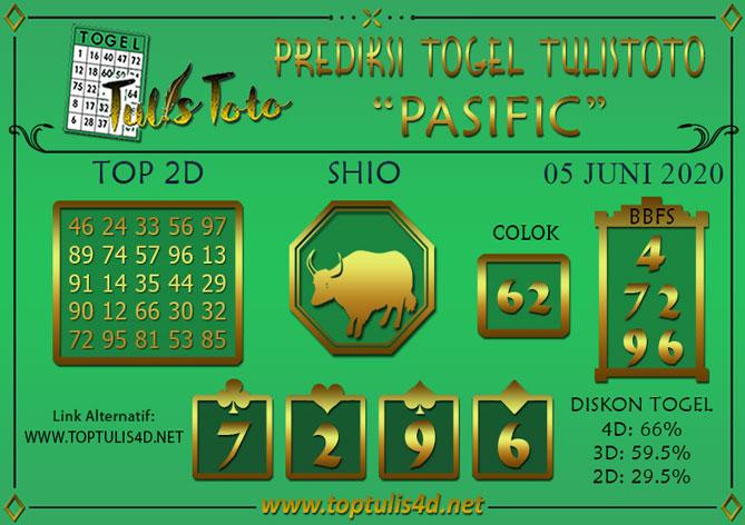 Prediksi Togel PASIFIC TULISTOTO 05 JUNI 2020