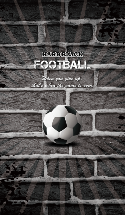 -HARD BLACK- FOOTBALL
