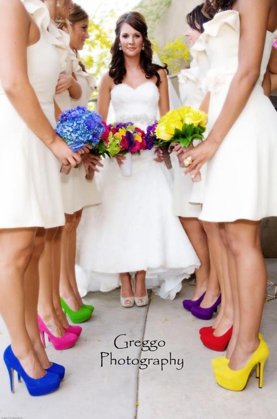 decoração de casamento colorido