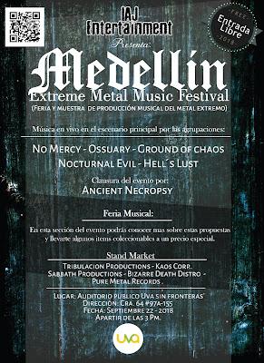 Concierto de metal en Castilla Medellín Colombia