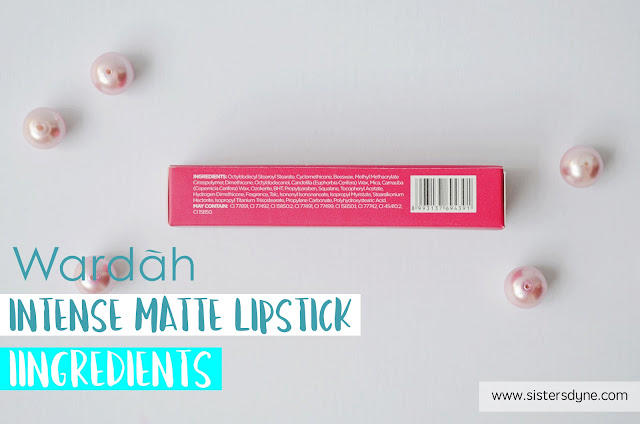 Wardah Intense Matte Lipstick ingredients