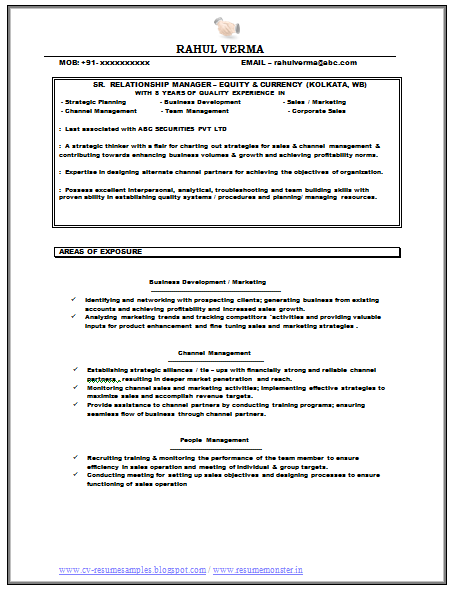 Over 10000 CV and Resume Samples with Free Download Relationship