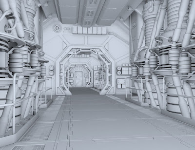 Sci-fi Engine Room A