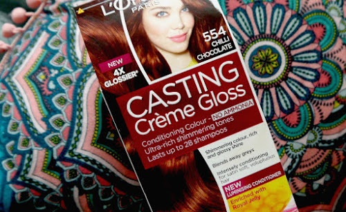 L Oreal Casting Creme Gloss 443 Auburn Henna My Hair Before
