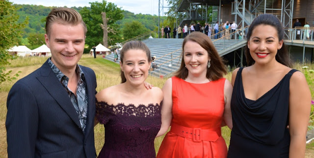 Robert Forrest, Marlena Devoe, Verity Wingate, Hollie-Anne Bangham, awards winners at Garsington Opera