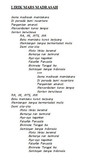 Lirik Hymne Madrasah : lirik, hymne, madrasah, Lirik, Hymne, Madrasah
