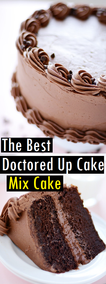 The Best Doctored Up Cake Mix Cake