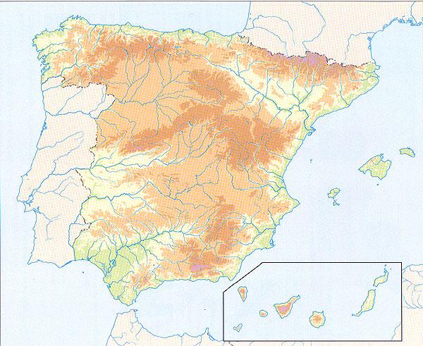 Mapa Fisic Espanya Mut.Geografia I Historia Ies Altaia Espanya Mapa Fisic Mut