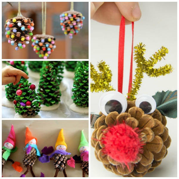 Pine cone crafts for kids growing a jeweled rose for Pine cone christmas ornaments crafts