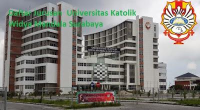 Daftar fakultas, jurusan dan program studi untuk diploma, doktor ,UKWMS Universitas Katolik Widya Mandala Surabaya