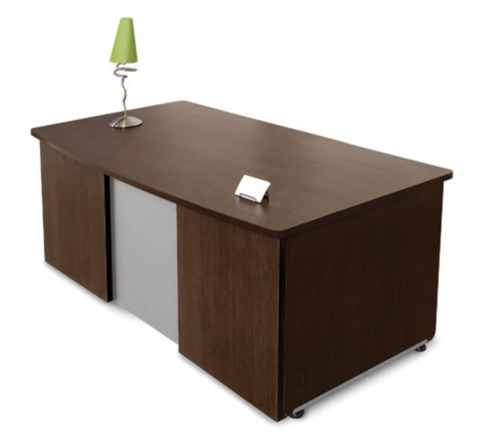 OFM 55145 Venice Series Walnut Executive Desk