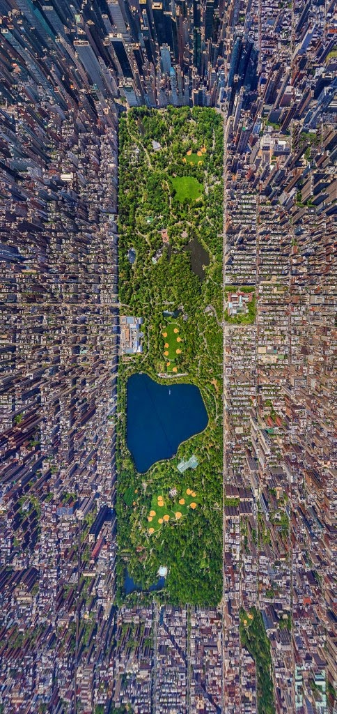 16 Of Your Favorite Landmarks Photographed WITH Their True Surroundings! - Central Park, New York