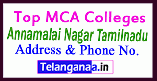 Top MCA Colleges in Annamalai Nagar Tamilnadu