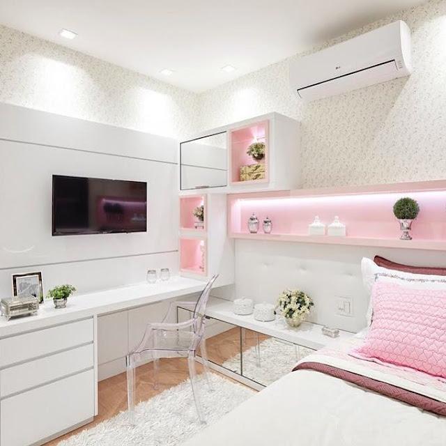 quarto-rosa-menina-arquitetura-moderna