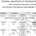 FUTMINNA 2016-17 1st Semester Continuous Assessment Time-Table Schedule