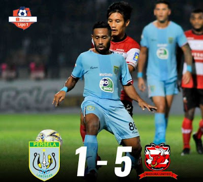 Skor Persela Lamongan vs Madura United Liga 1 2019
