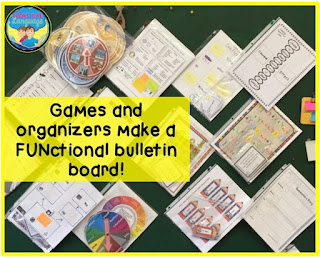 Games and organizers make FUNctional bulletin boards! Looks Like Language