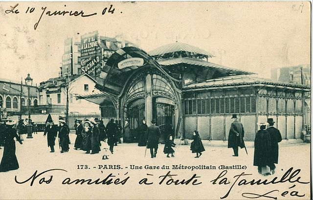 pavillons de la station Bastille, Hector Guimard