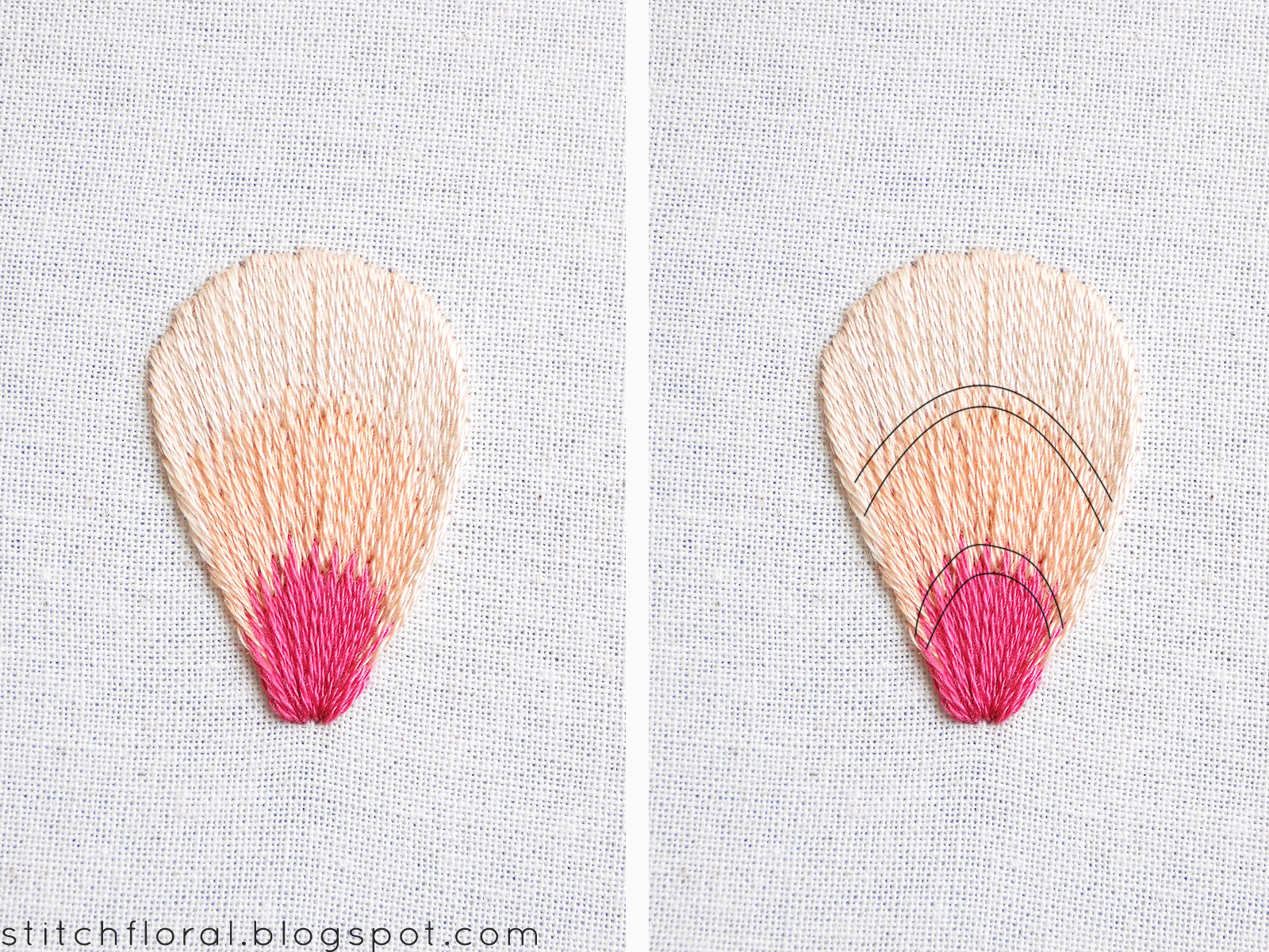 Needlepainting Tips Part 3: Levels of long and short stitches