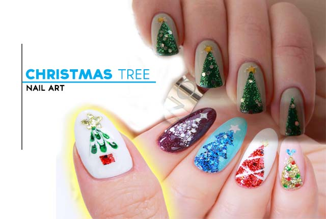 Top Christmas Tree Nail Art With Interesting Application
