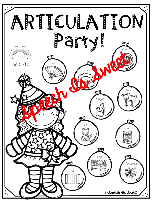 Speech is Sweet: New Year's Articulation Freebie!