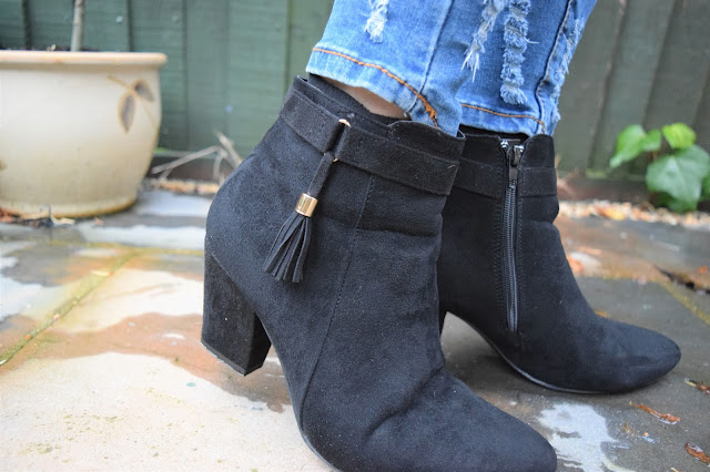 What Cat Says - Style | Tassel Strap Ankle Boots