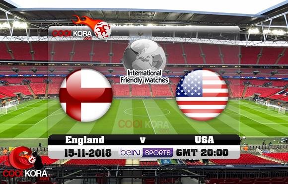 مشاهدة مباراة إنجلترا والولايات المتحدة اليوم 15-11-2018 مباراة ودية