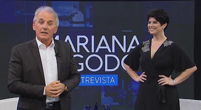 Apresentador entrevista Mariana no sábado (Divulgação/SBT)