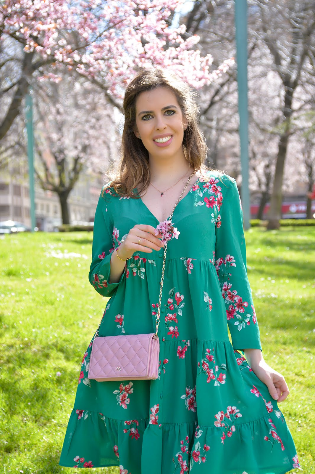beautiful spring springtime flowers cherry blossom bloom europe spain scenery cute spring dress sezane