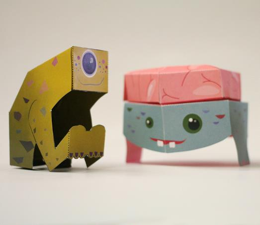 PAPERMAU: Two Easy-To-Build Paper Toy Monsters For Kids - by