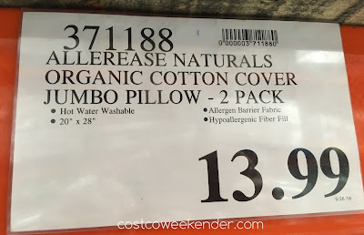 Costco 371188 - Deal for the Allerease Naturals Allergy Protection Pillow at Costco