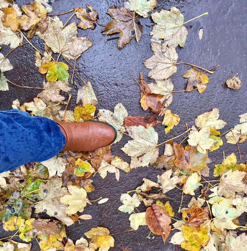 I was challenged by Luxury Flooring to find my nightmare flooring for 7 days #MyFlooringNightmare - wet leaves