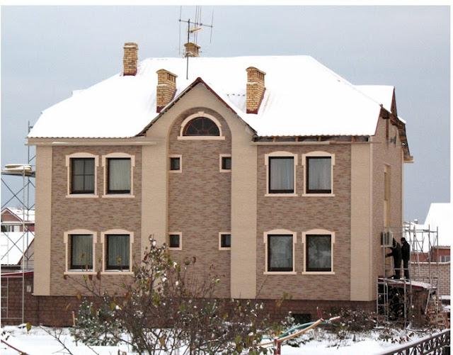 Фасад частного дома Ефремов, Сайдинг в Щекино, монтаж фиброцемента Тула, фиброцементная плита Тула