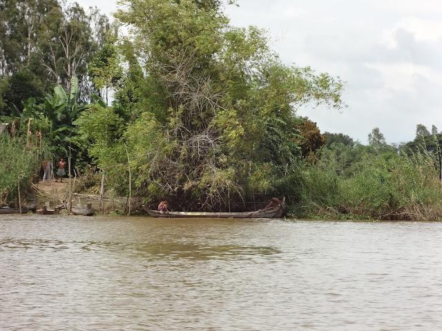 Orillas del rio Mekong en Camboya