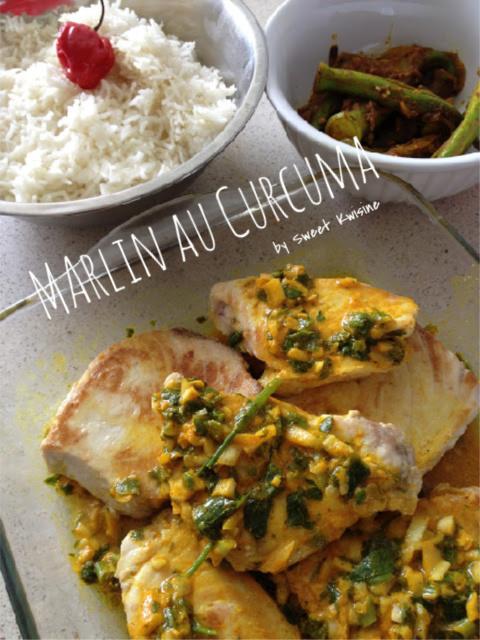 sweet kwisine, recette de poisson,marlin, curcuma, manger du poisson, recette facile, cuisine antillaise, martinique, guadeloupe