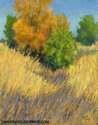 art painting acrylic landscape autumn fall foliage grass